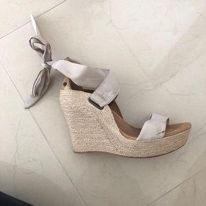 Ugg Ribbon Wedge Shoes